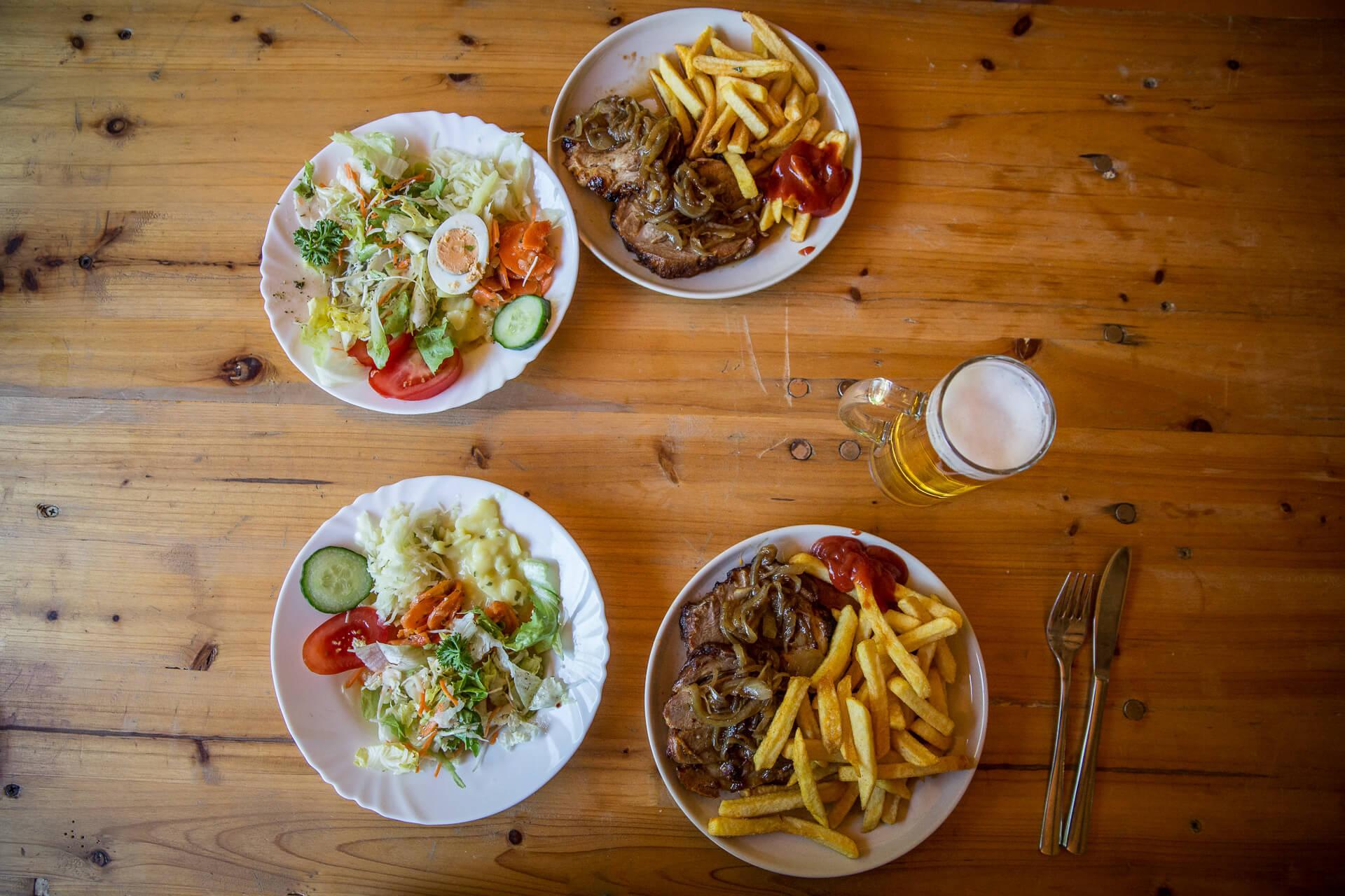 reichhaltiges Speiseangebot